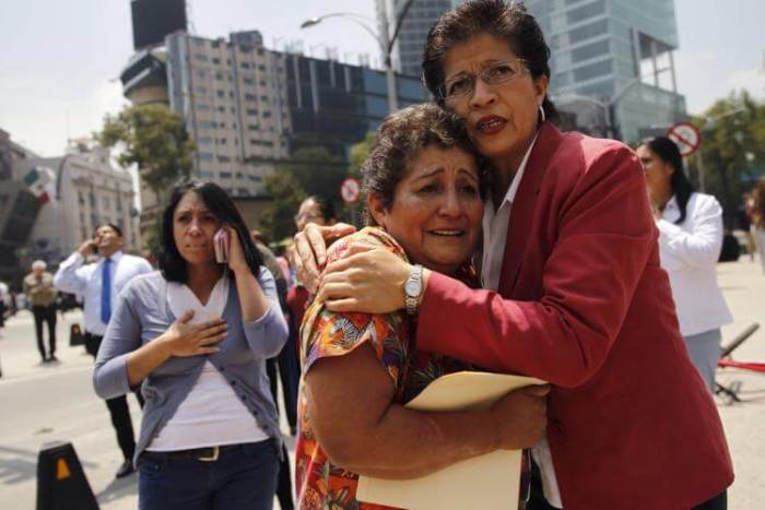 The Earthquake sent people throughout the city leaving from homes and offices