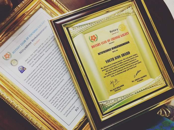 Nithyashree Venkataramanan Awards