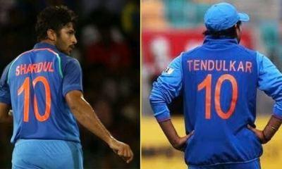 Sachin Tendulkar's jersey number 10