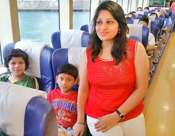 D. Roopa IPS with her childrens