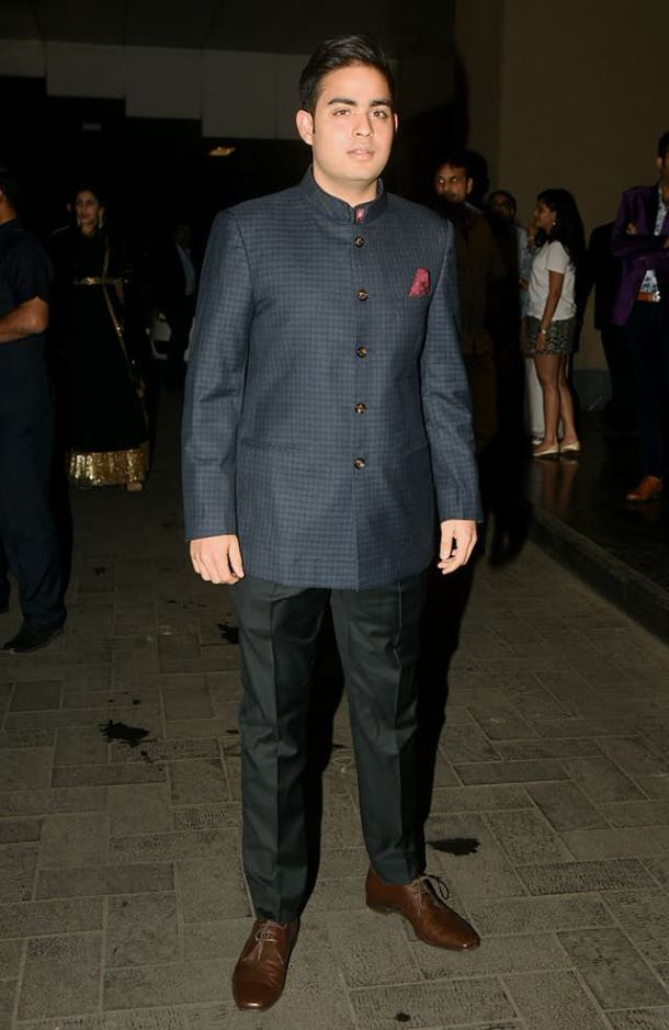 Akash Ambani Spotted at the party