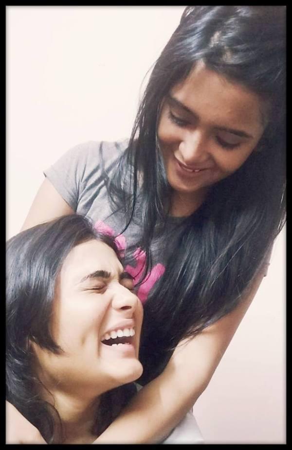 Shalini with her friend   Shalini Pandey Wiki