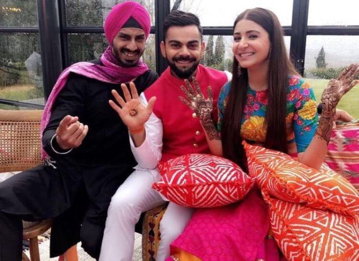 Virat Kohli and Anushka Sharma Mehandi photos