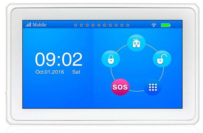 Kerui K7 Wireless 2.4G WIFI/GSM 7 Inch Color Display TouchPadBurglar Alarm