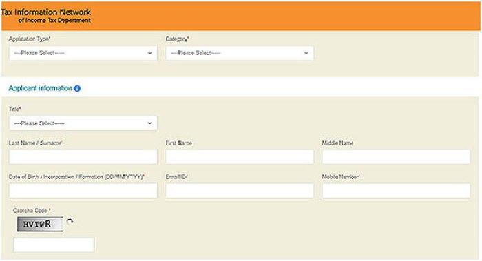 PAN Card Apply Online Using NDSL