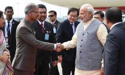 Narendra Modi Arrives in Malaysia