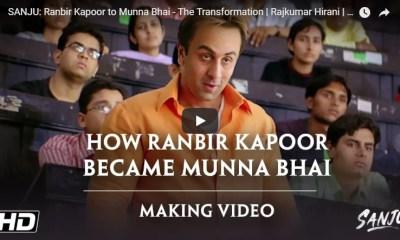 Ranbir Kapoor's Transformation into Munnabhai