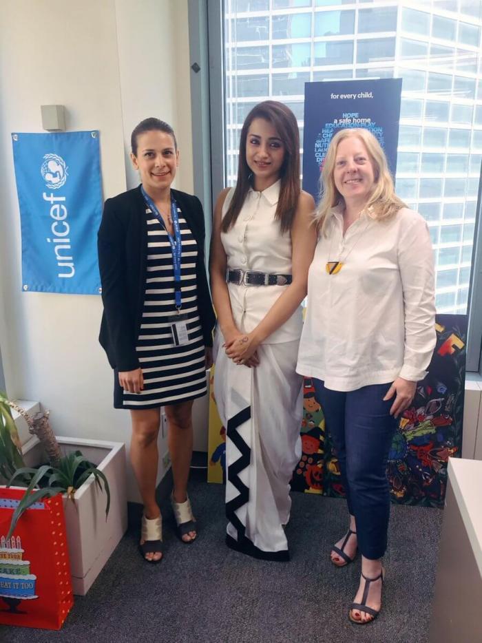 UNICEF Invites Trisha Krishnan to their Headquarters in New York