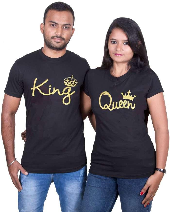 King & Queen Couple T-Shirt