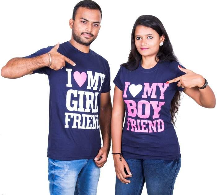 I Love My Girlfriend and I Love My Boyfriend Couple T-Shirt