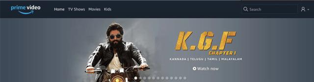 KGF Amazon Prime Video