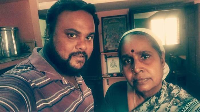 Rajesh Giriprasad with his mother