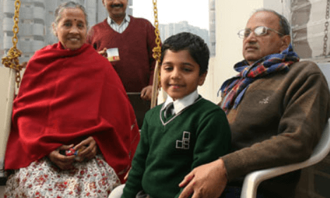 Pulkit Kejriwal Grandparents