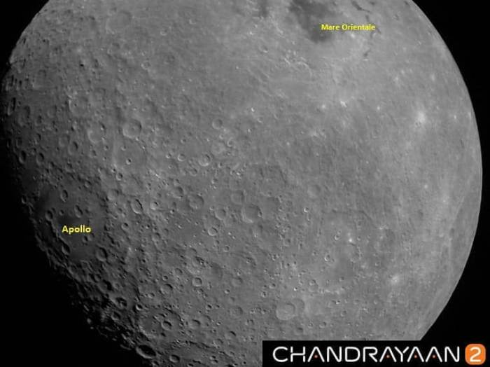 Photos taken by Chandrayaan 2