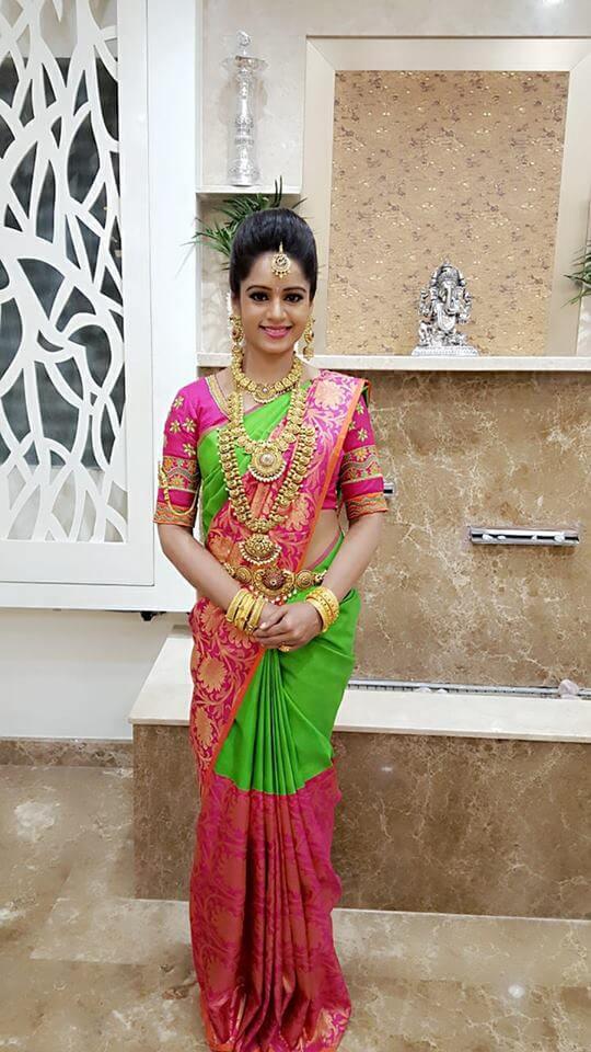 Duniya Rashmi in Saree