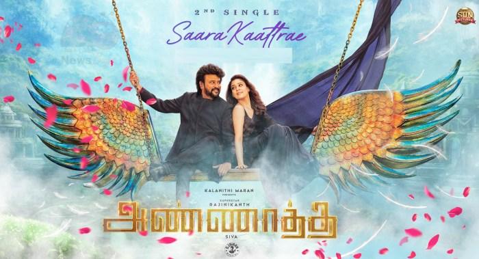 Saara Kaattrae Song from Annaatthe | Rajinikanth Nayanthara