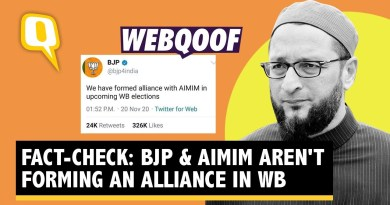 WebQoof | BJP, AIMIM Forming Alliance for WB Polls? No, Screenshot Is Fake | The Quint