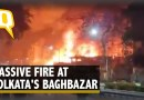 Massive Fire Breaks Out at Kolkata's Baghbazar, At Least 25 Fire Tenders Reach Spot | The Quint