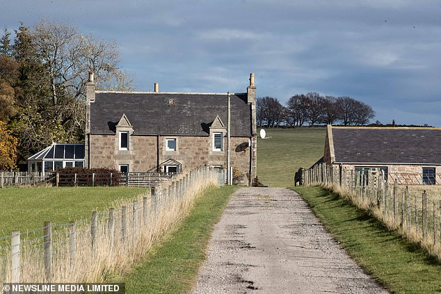 The mad cow disease case detected on Boghead Farm (pictured), Lumsden, Aberdeenshire, last was month was a one-off, tests have revealed. Out of the five cows analysed, only one came back as positive for BSE in what is thought to be a 'sporadic' incident