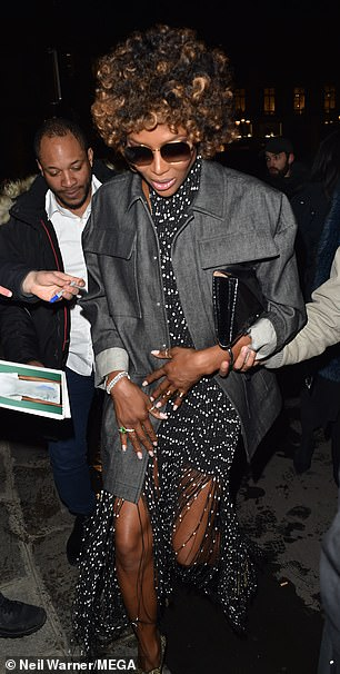 Naomi Campbell Is Radiant As She Shows Off New Cropped Hairdo At
