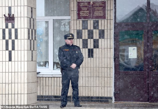 Miloshevsky then 'ran around the school, waving a knife and making petrified pupils barricade themselves inside classes' before fleeing from a second-floor window