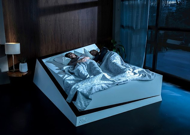 The smart bed aims to tackle the problem of bed hogs, or sleepers who take up too much space, often leaving their bedmate annoyed and at risk of losing out on a good night's sleep