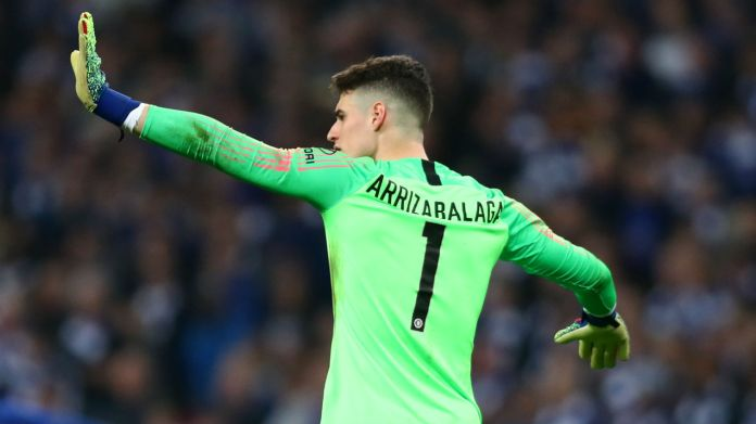 Chelsea goalkeeper Kepa Arrizabalaga refuses to be substituted during the Carabao Cup final