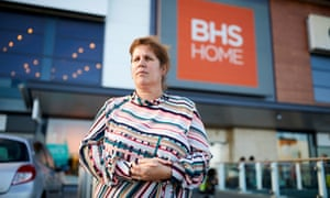 Emma Murray outside the BHS Home store she used to work at in Widnes.