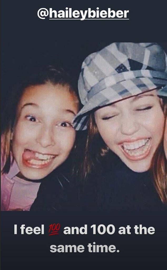 Miley Cyrus, Hailey Baldwin