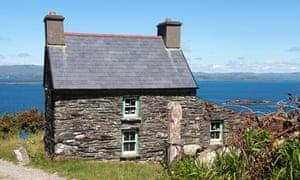 Sea views: a stone cottage on the island's coastline.