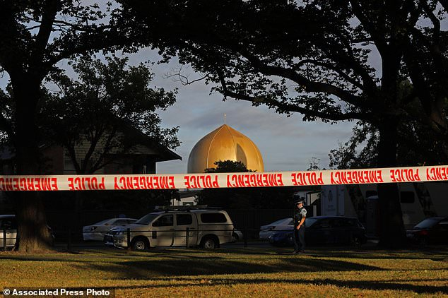 A lone gunman killed 51 people at two mosques in Christchurch on March 15 while live streaming the attacks on Facebook. The image shows Masjid Al Noor mosque in Christchurch, New Zealand, where one of two mass shootings occurred