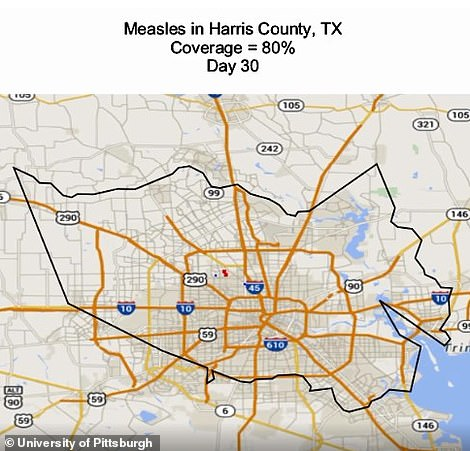 Houston, Texas, at day 30 of the outbreak