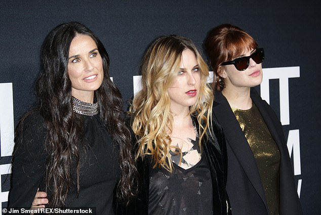 All girls: In the 1980s, the mother of Rumer, 30, Scout, 27 and Tallulah, 25, checked into rehab for a drug and alcohol addiction; seen with Scout and Tallulah in 2016