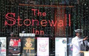 The Stonewall Inn, a historic landmark on Christopher Street.