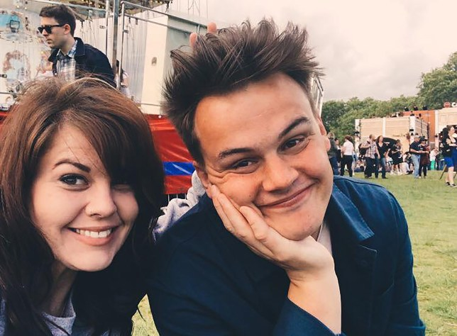 Illustrator Ella Masters and her brother Saul are photographed together at the British Summer Time Festival in Hyde Park in 2017