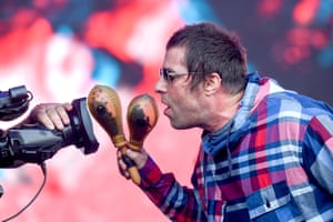 Liam Gallagher on the Pyramid stage.