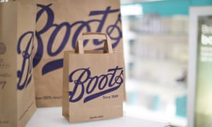 Boots paper bags