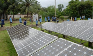 A solar power station in West Bengal, India