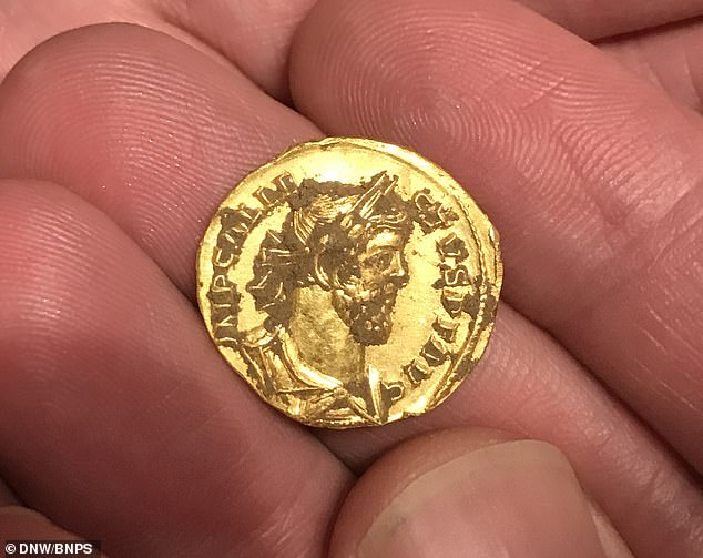 A stunning gold coin emblazoned with the face of Roman Emperor Allectus - the first Brexiteer who took Britain out of the Roman Empire - has sold for a staggering £550,000. The incredibly rare coin was found by an unnamed treasure hunter