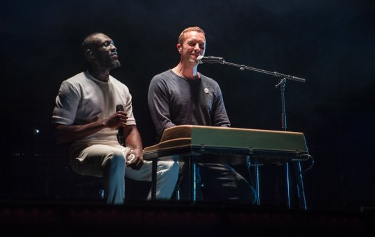 Stormzy and Chris Martin