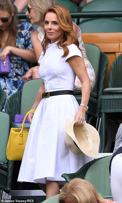 Excited: Geri is a huge tennis fan, and often takes to the court to keep up her training