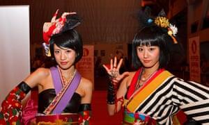 Japanese pop duo Yanakiku at Hyper Japan in 2013
