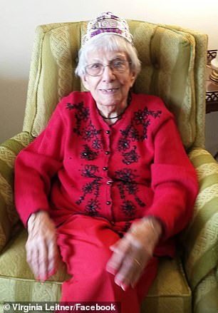 She says some of secrets to a long life are staying positive and using her hands. Pictured: Leitner