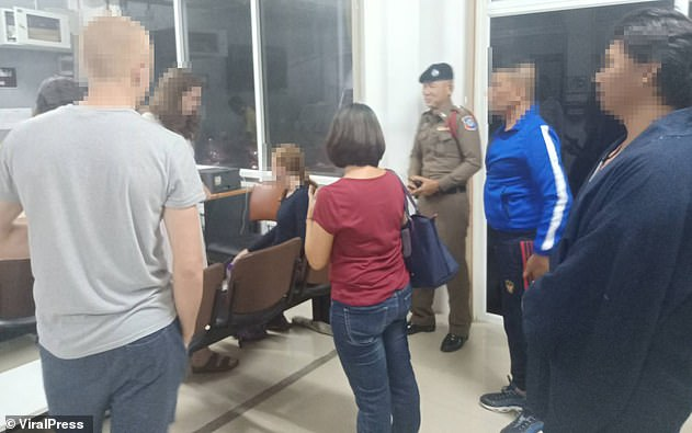 The group of tourists were taken down to the police station in Krabi and each was ordered to pay £13 for public indecency