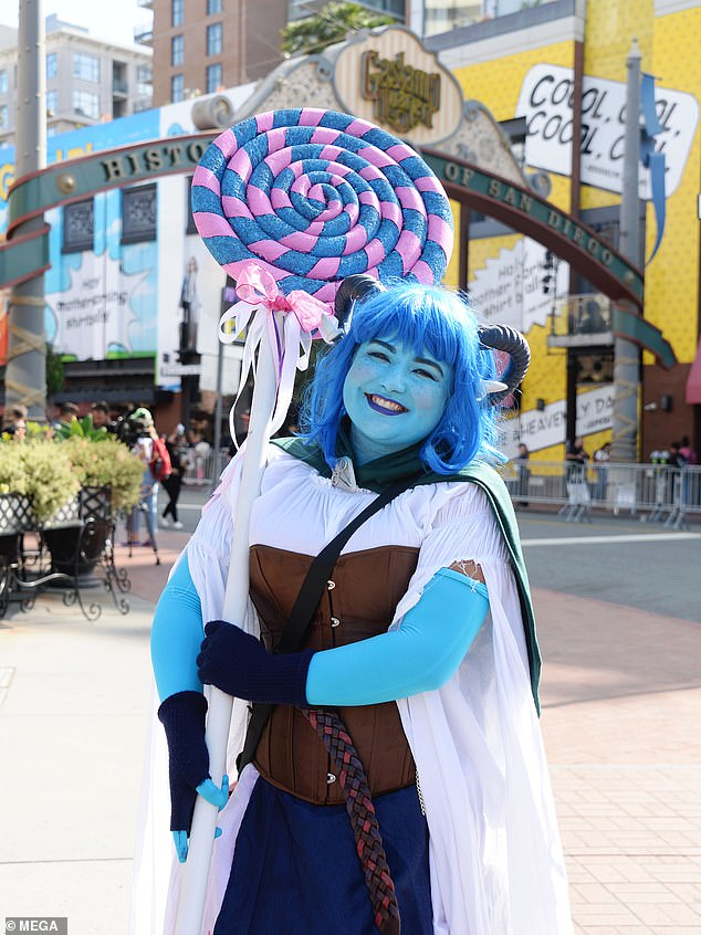 Cosplayer dresses as Magical Girl Jester from the live Dungeon & Dragons show Critical Role