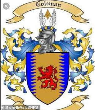 The coat of arms of the Colman family, which is at the centre of the 350-year-old disovery