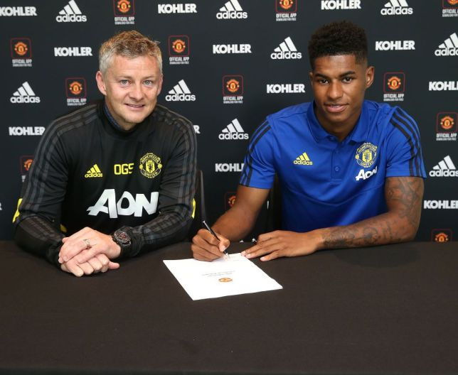 Marcus Rashford has signed a new deal at Manchester United