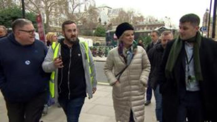 James Goddard confronting Anna Soubry