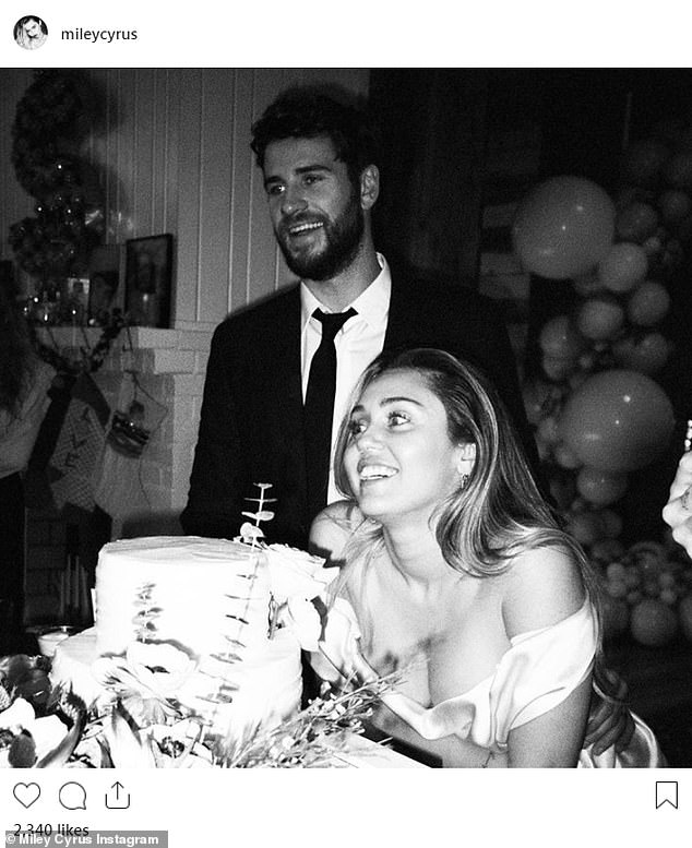 Miley and Liam married last December in her native Tennessee after an on-off romance that began when they co-starred in the 2010 movie The Last Song