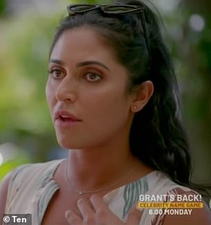 Rivals:Jolie's comments were in relation to Thursday night's episode that saw Sogand Mohtat (pictured), 30, telling Matt's friend Kate that Abbie hasn't always been honest